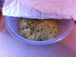Leaving the dough to bulk ferment