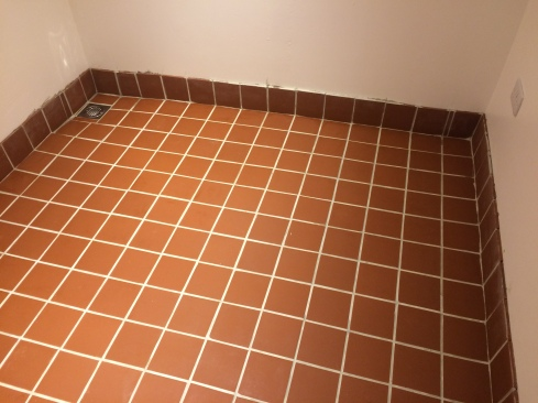 Floor Grouted and Sealed