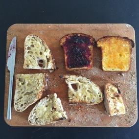Toast taste testing - yum yum