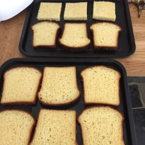 Slices lightly toasted & soaked in honey water