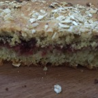 Covered with an oatmeal cream and baked - voila, local Bostock