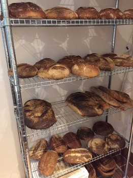 Here's the end result, lots of local provenance sourdough bread