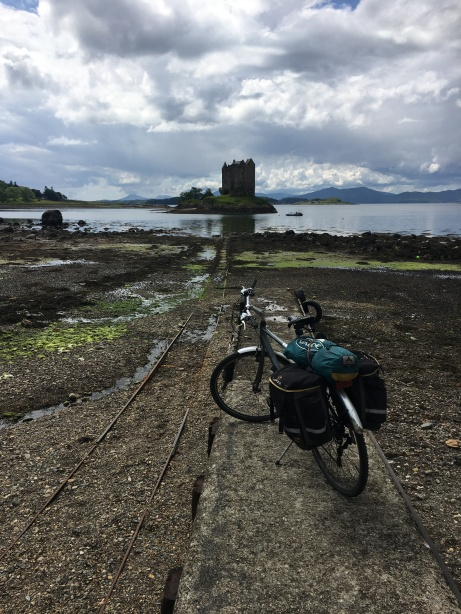 Castle Stalker en route to Port Appin